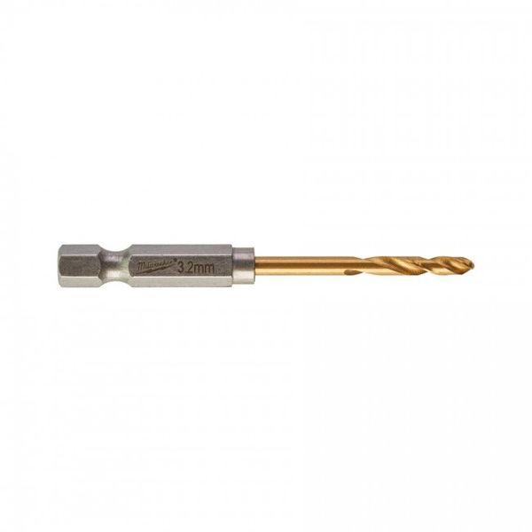 Сверла по металлу MILWAUKEE Shockwave RedHEX HSS-G TiN 3.2x66.5mm 2 шт (48894706)
