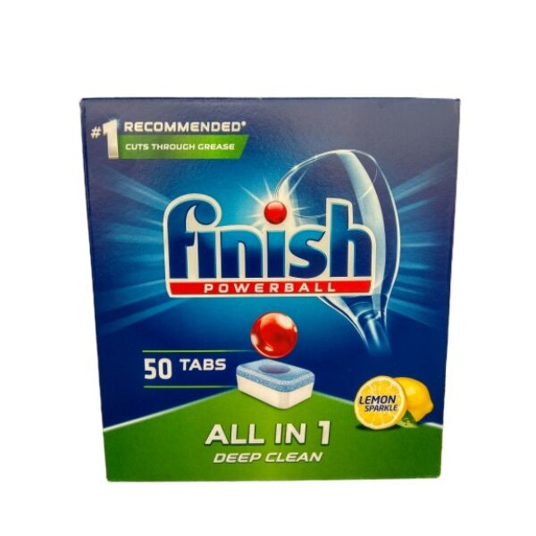 Таблетки Finish All in 1 Powerball Lemon 50 шт