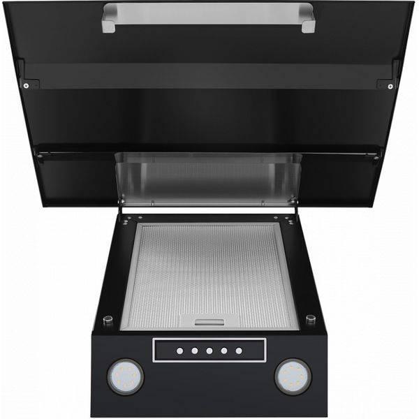 Кухонная вытяжка MAUNFELD BRIDGE 60 черный/черное стекло