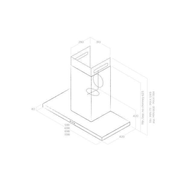 Вытяжка ELICA Thin IX/A/60