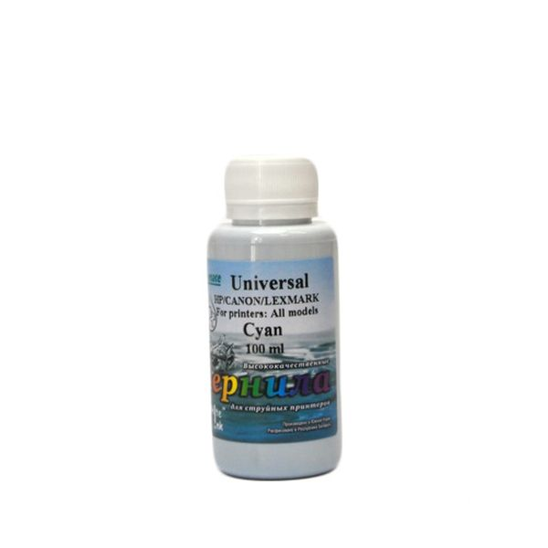 Чернила WHITE INK Universal Cyan 100 мл для HP/CANON/LEXMARK