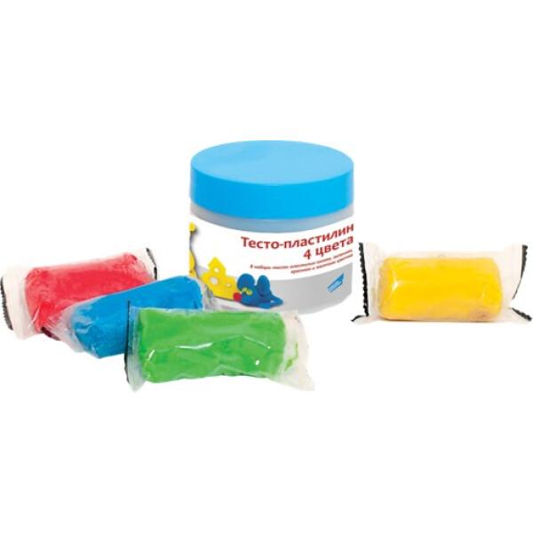 Набор для творчества GENIO KIDS-ART Тесто-пластилин 4 цвета (TA1055)