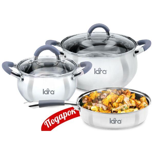 Набор посуды LARA Bell LR02-102 + сковорода