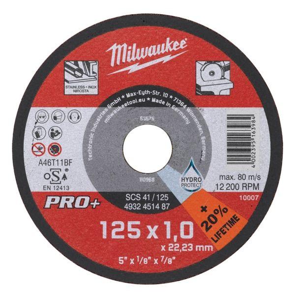 Диск отрезной по металлу MILWAUKEE SC 41/180 180мм/1.5мм 4932451489