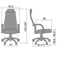 Кресло офисное Metta BP-8PL (серый)