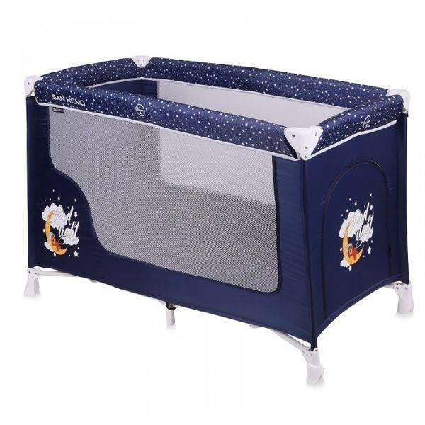 Манеж-кровать LORELLI San Remo 1 (Blue Good Night Bear)