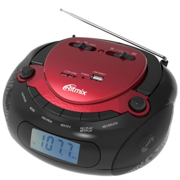 Магнитола Ritmix RBB-300BT Red-Black