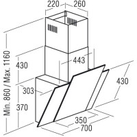 Вытяжка САТА THALASSA 700 XGWH/D