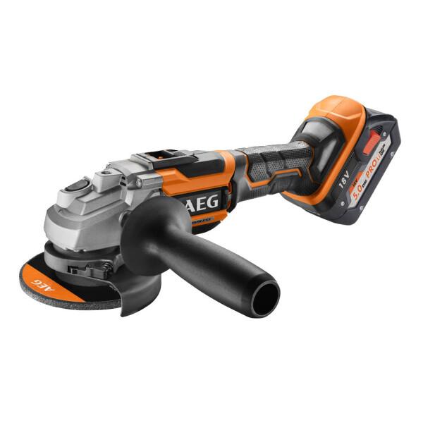 Угловая шлифмашина AEG Powertools BEWS 18-125BL LI-502C (4935464417)