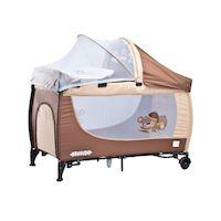 270x270-Манеж-кровать Caretero Grande (коричневый)