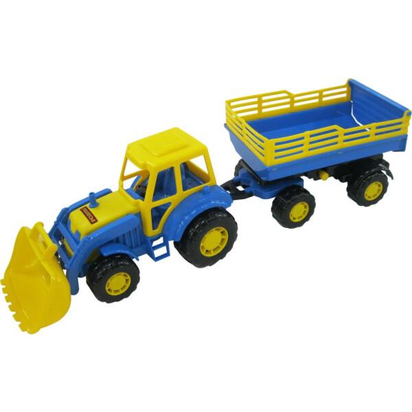 Мастер, трактор с прицепом №2 и ковшом ПОЛЕСЬЕ