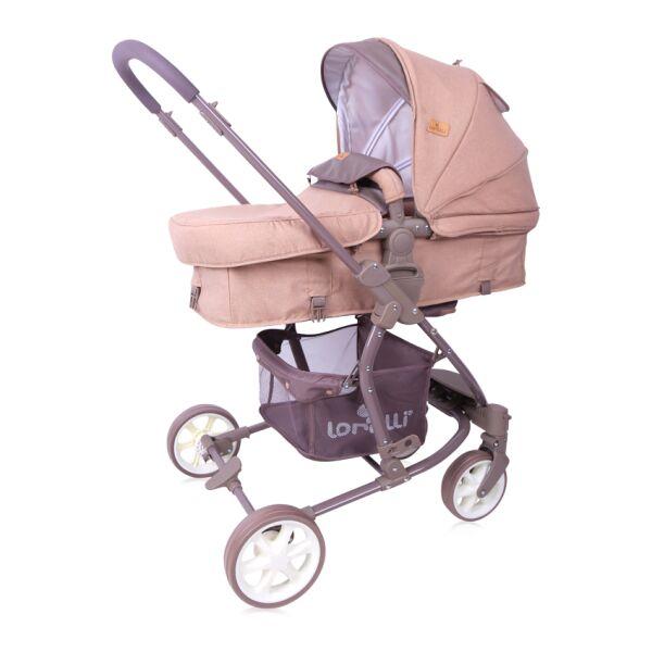 Детская коляска LORELLI Aster 2в1 Beige Brown Lines