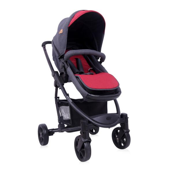 Детская коляска LORELLI Aster 2в1 Black Red