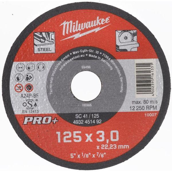 Диск отрезной по металлу MILWAUKEE SC 41/125 125 мм/3мм 4932451492