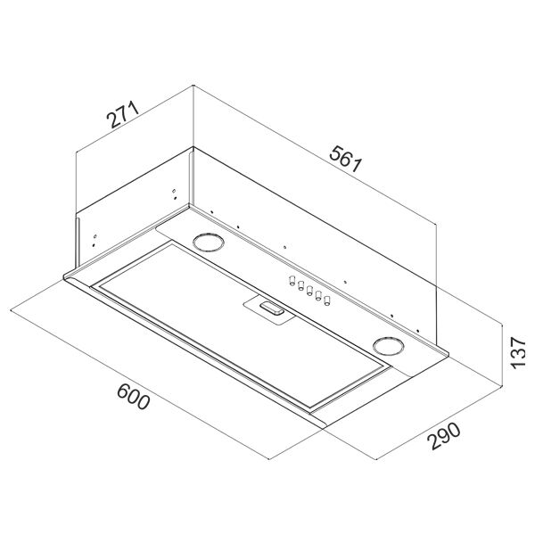 Вытяжка CIARKO SL-Box II 60