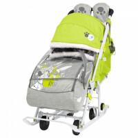 270x270-Санки-коляска Ника Disney-baby 2  Далматинец DB2/3 (лимонный)