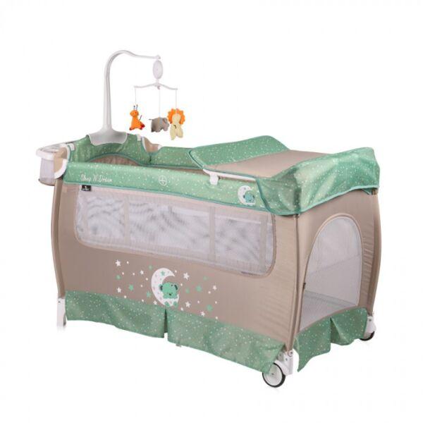 Манеж-кровать LORELLI San Remo 2 Plus Green Beige Moon Bear
