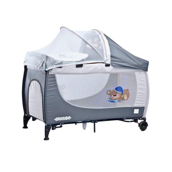 Манеж-кровать Caretero Grande (серый)