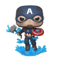 Фигурка Funko POP! Bobble: Marvel: Avengers Endgame: Capt A w/Broken Shield & Mjolnir (45137)