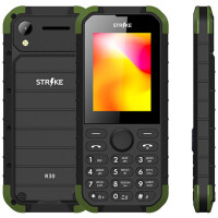 270x270-Телефон GSM STRIKE R30 (черный-зеленый)