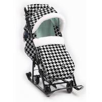 270x270-Санки-коляска Ника Детям 7-5 New (гусиная лапка/мятный)