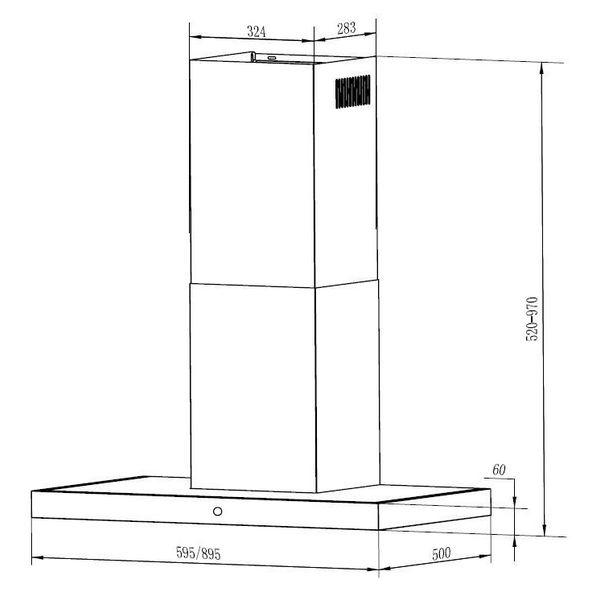 Кухонная вытяжка MAUNFELD TSH 90 (нержавеющая сталь)