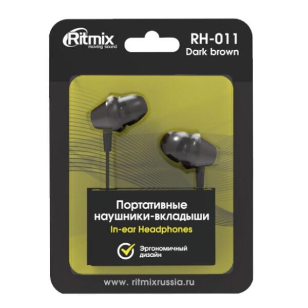 Наушники RITMIX RH-011 (коричневый)