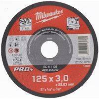 270x270-Диск отрезной по металлу MILWAUKEE SC 42/125 125 мм/3мм 4932451496