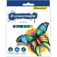 Фломастеры SILWERHOF Бабочки 867200-12
