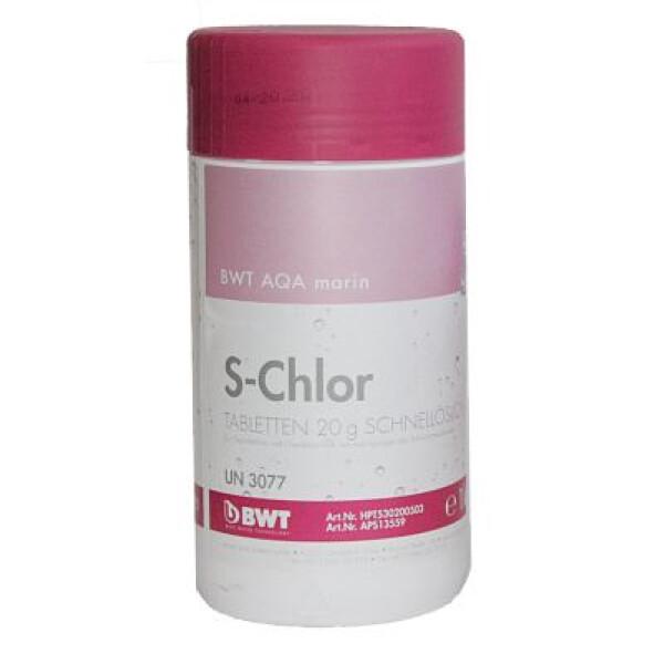 Реагент для бассейна BWT AQA marin S-Chlor 20 гр (1 кг)