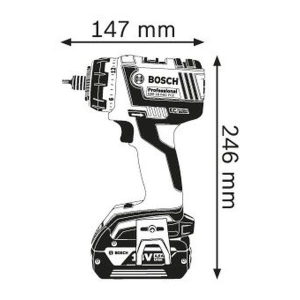 Дрель-шуруповерт Bosch GSR 18 V-EC Professional (0.601.9E1.105)