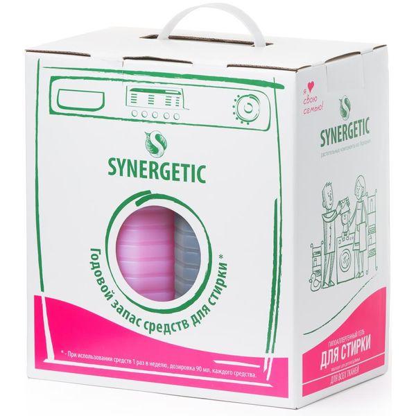 Набор средств для стирки Synergetic 122500 (средство д/стирки белья 5л + кондиционер д/белья 5л)