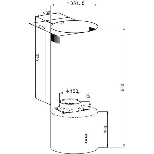 Кухонная вытяжка Maunfeld Lee Wall 35 (белый)
