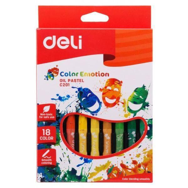 Пастель масляная DELI Color emotions С20110 18 цв