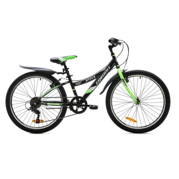 Велосипед Favorit Space 24 V (сталь, черный/зеленый)