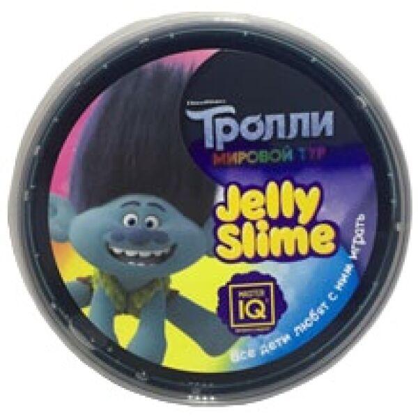 Игрушка IQ MASTER Джелли слайм Тролли N62 фиолетовый с блестками