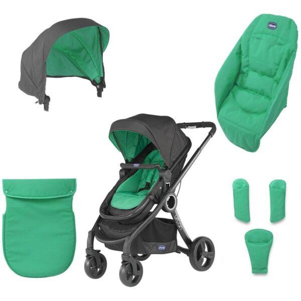 Набор для детской коляски CHICCO URBAN серия SUMMER (Green Wave)