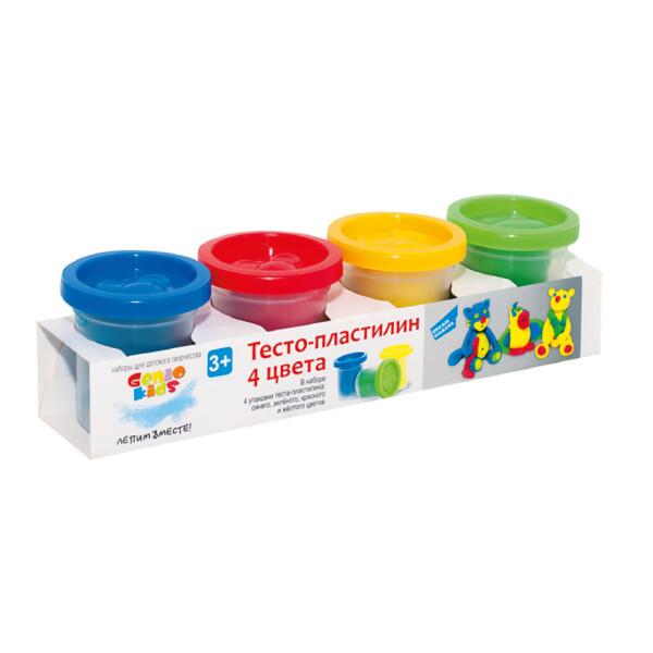 Набор для творчества GENIO KIDS-ART Тесто-пластилин 4 цвета (TA1008)