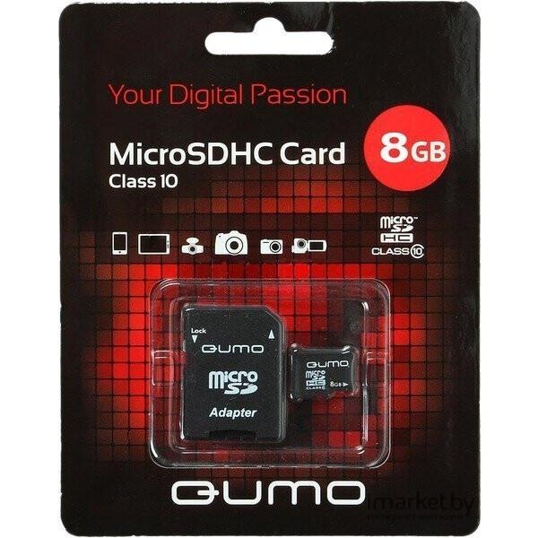 Карта памяти QUMO microSDHC (Class 10) 8GB (QM8GMICSDHC10)