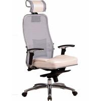 270x270-Кресло офисное Metta Samurai SL-3.02 (белый лебедь, кожа)