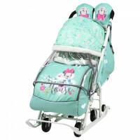 270x270-Санки-коляска Ника Disney-baby 2 Disney-baby 2 Минни Маус DB2/2 (мятный)
