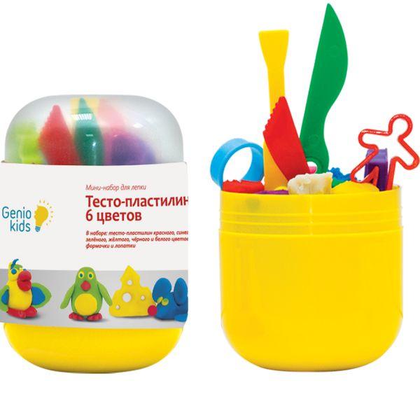 Набор для творчества GENIO KIDS-ART Тесто-пластилин 6 цветов (TA1065)