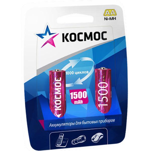 Аккумуляторы КОСМОС AA 1500mAh NI-MH (2 шт.)