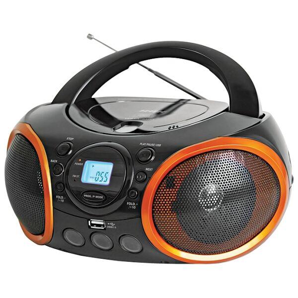 Магнитола BBK BX100U черно/оранжевая