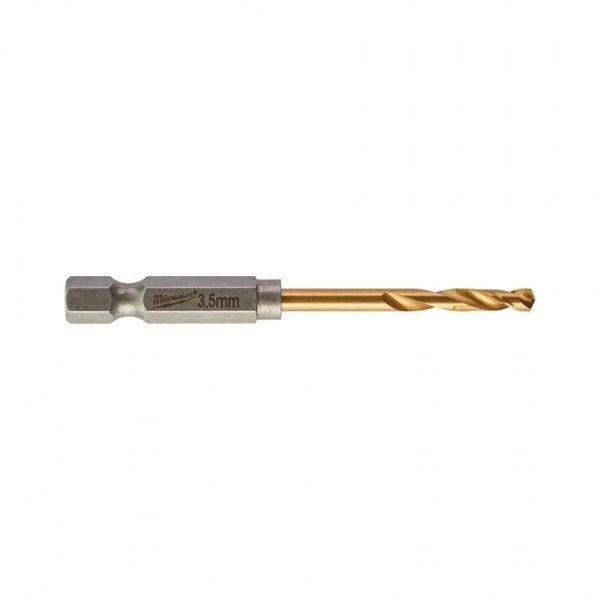 Сверла по металлу MILWAUKEE Shockwave RedHEX HSS-G TiN 2.5x62mm 2 шт (48894704)