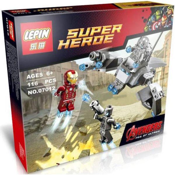 Конструктор LEPIN 07012 Железный человек против Альтрона