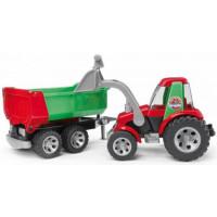Трактор BRUDER ROADMAX с порузчиком и прицепом (20116)