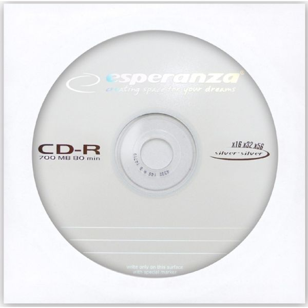Диск ESPERANZA ENVELOPE 1 PCS CD-R SILVER
