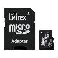Карта памяти MIREX microSDHC 16GB (13613-ADSUHS16)