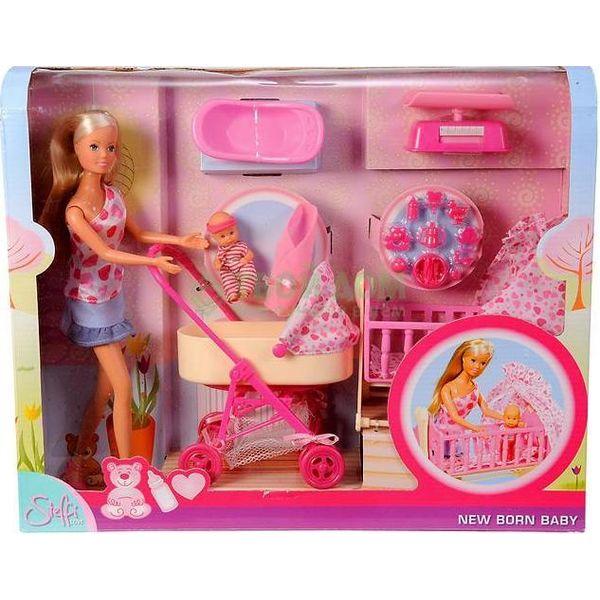 Кукла Штеффи Simba в наборе с младенцем, мебелью и аксессуарами, 10 5730861